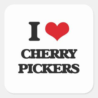 I love Cherry Pickers Square Sticker