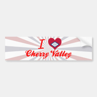 I Love Cherry Valley, Arkansas Bumper Stickers