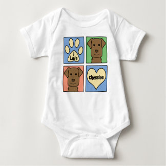 I Love Chesapeake Bay Retrievers Baby Bodysuit