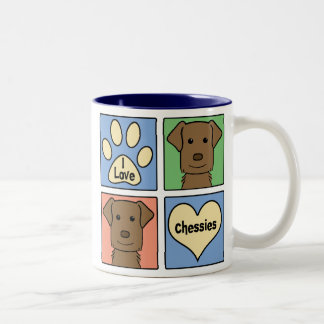 I Love Chesapeake Bay Retrievers Two-Tone Coffee Mug