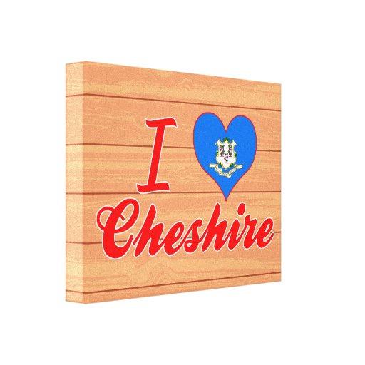 I Love Cheshire, Connecticut Canvas Prints