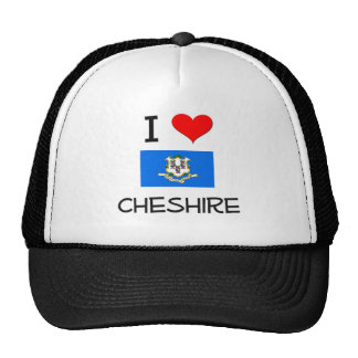 I Love Cheshire Connecticut Mesh Hats