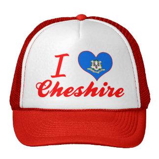 I Love Cheshire, Connecticut Mesh Hats