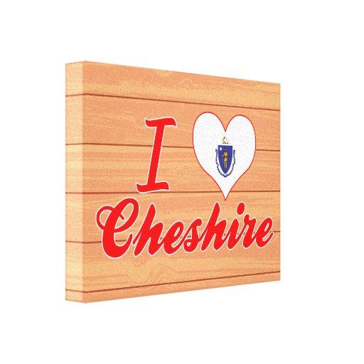 I Love Cheshire, Massachusetts Canvas Print