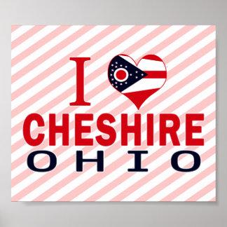 I love Cheshire, Ohio Print
