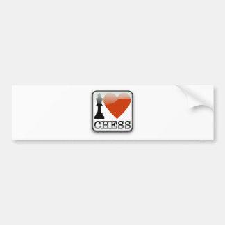 I Love Chess Bumper Sticker