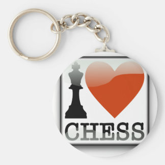I Love Chess Key Ring