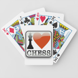 I Love Chess Sign Bicycle Playing Cards