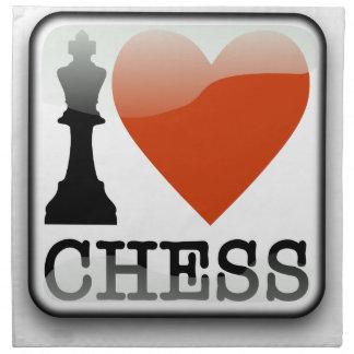 I Love Chess Sign Napkin
