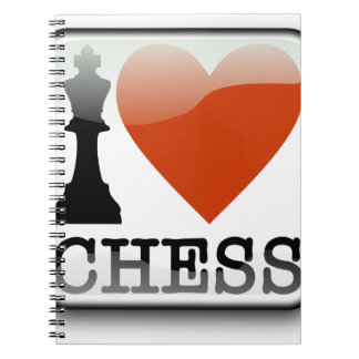 I Love Chess Sign Notebooks