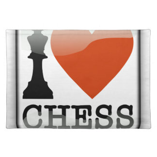 I Love Chess Sign Placemat