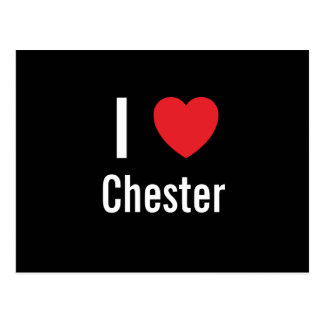 I love Chester Postcard