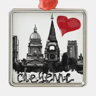 I love Cheyenne Metal Ornament