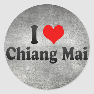 I Love Chiang Mai, Thailand Round Sticker
