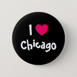 I Love Chicago 6 Cm Round Badge