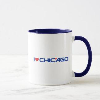 I Love Chic'ago Black 11 oz Combo Mug