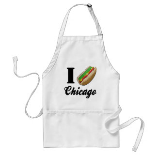I Love Chicago Hot Dogs Standard Apron