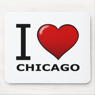 I LOVE CHICAGO, IL - ILLINOIS MOUSE PAD