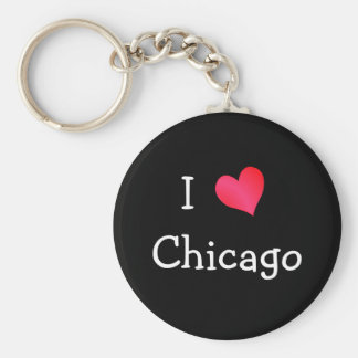 I Love Chicago Key Ring
