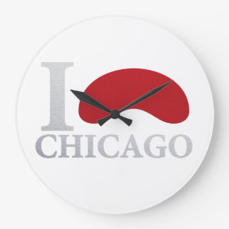 I LOVE CHICAGO LARGE CLOCK