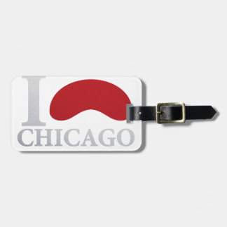 I LOVE CHICAGO LUGGAGE TAG