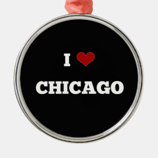 I Love Chicago Metal Ornament