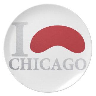I LOVE CHICAGO PLATE