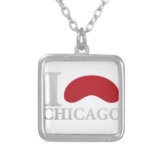 I LOVE CHICAGO SILVER PLATED NECKLACE