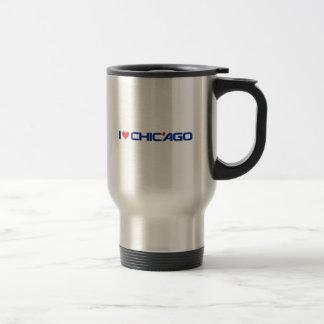 I Love Chic'ago Stainless Steel 15 oz Travel Mug