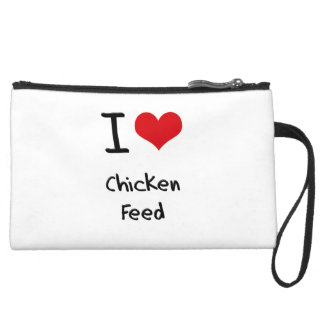 I love Chicken Feed Wristlets