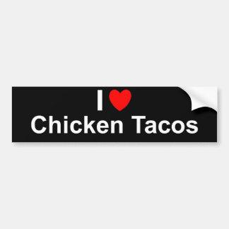 I Love Chicken Tacos Bumper Sticker