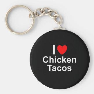 I Love Chicken Tacos Key Ring