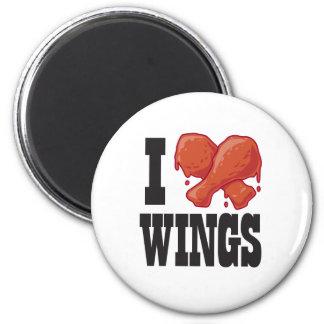 I Love Chicken Wings Refrigerator Magnets