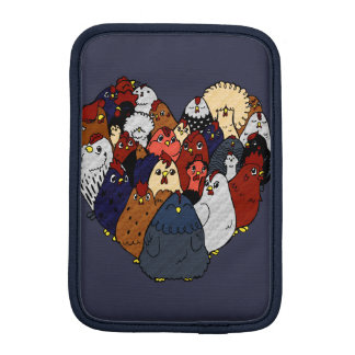 I Love Chickens iPad Mini Sleeve
