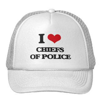 I love Chiefs Of Police Trucker Hat