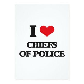 "I love Chiefs Of Police 5"" X 7"" Invitation Card"
