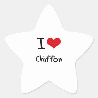 I love Chiffon Star Stickers