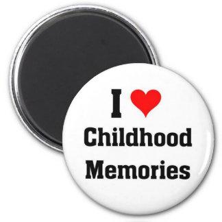 I love Childhood Memories 6 Cm Round Magnet