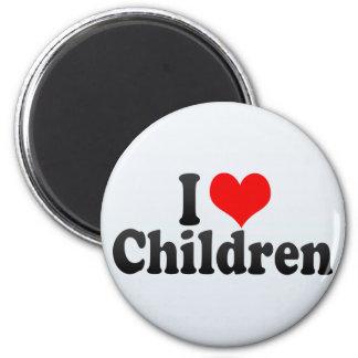 I Love Children 6 Cm Round Magnet