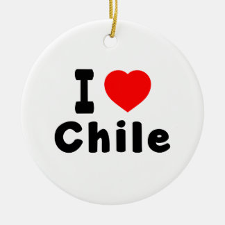 I Love Chile. Christmas Ornaments