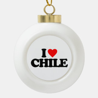 I LOVE CHILE ORNAMENTS