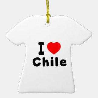 I Love Chile. Ceramic T-Shirt Decoration