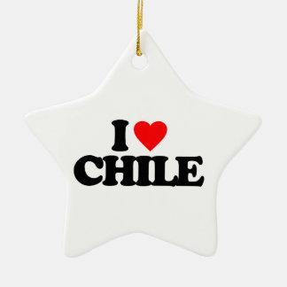 I LOVE CHILE CHRISTMAS TREE ORNAMENTS