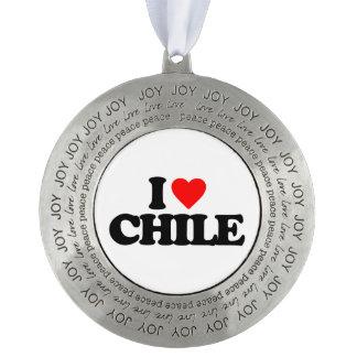 I LOVE CHILE ROUND ORNAMENT