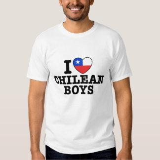 I Love Chilean Boys T Shirts