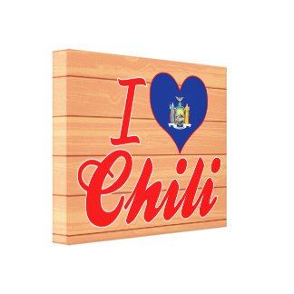 I Love Chili, New York Gallery Wrapped Canvas