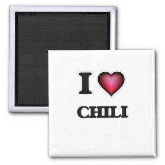 I love Chili Square Magnet
