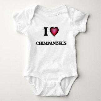 I Love Chimpanzees Baby Bodysuit