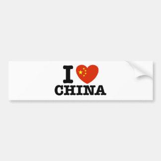 I Love China Bumper Stickers