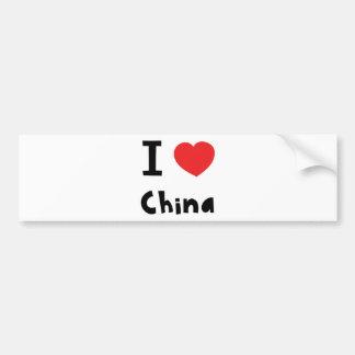I love China Bumper Sticker